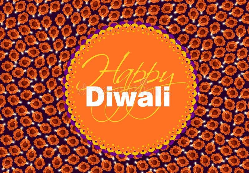 Diwali diya, top viewforming shape of diya royalty free illustration