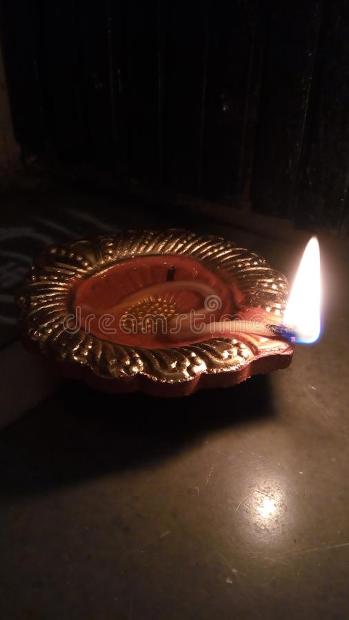 Diwali Diya. Well Lit Diwali Diya stock image