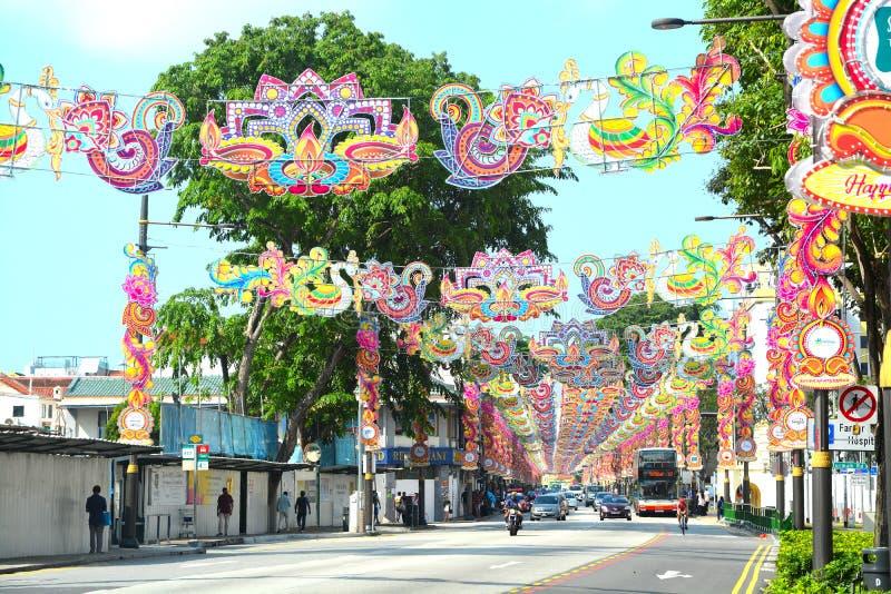Diwali en la poca India Singapur fotografía de archivo libre de regalías