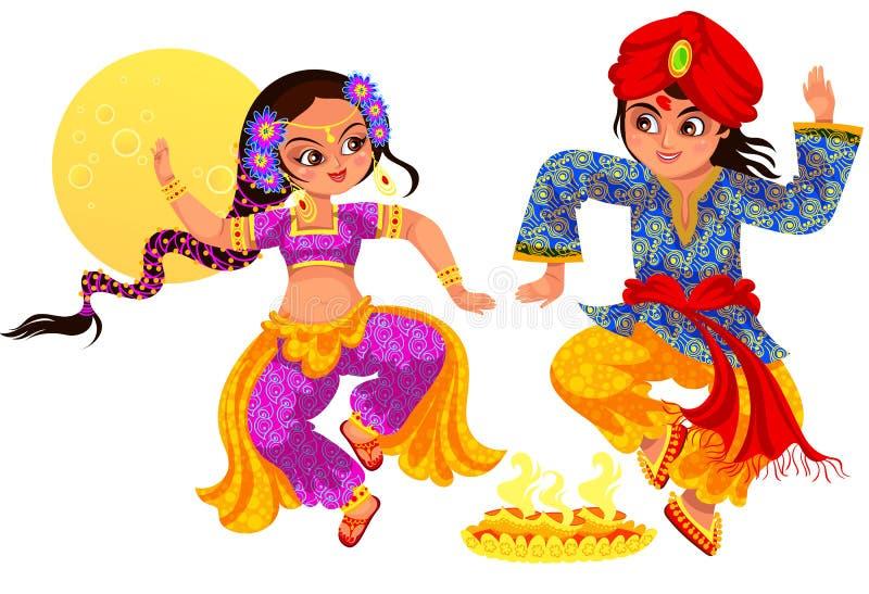 Diwali et frère avec la soeur le jour de Bhai Dooj illustration stock