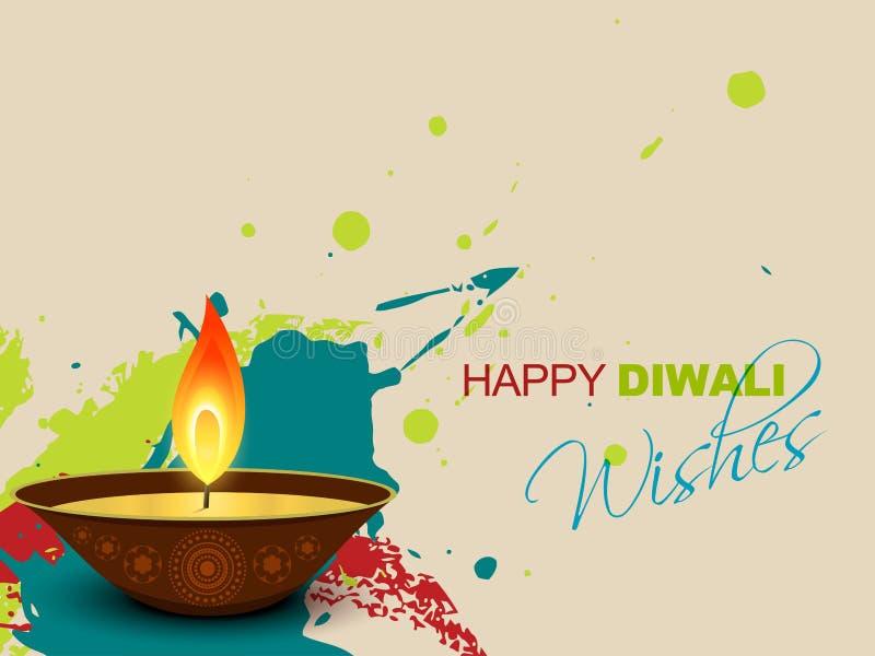 Diwali färgstänk stock illustrationer