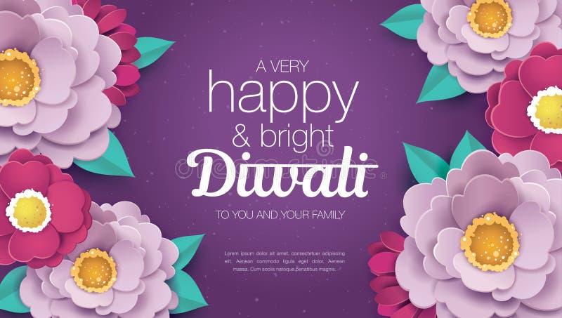 Diwali felice illustrazione di stock