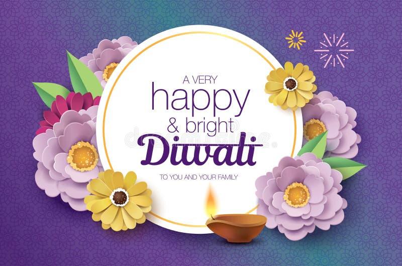 Diwali feliz stock de ilustración