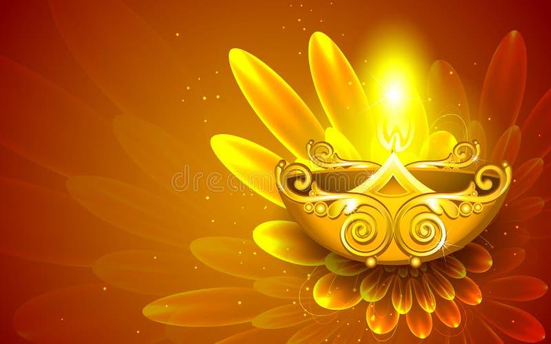 Diwali feliz ilustração stock