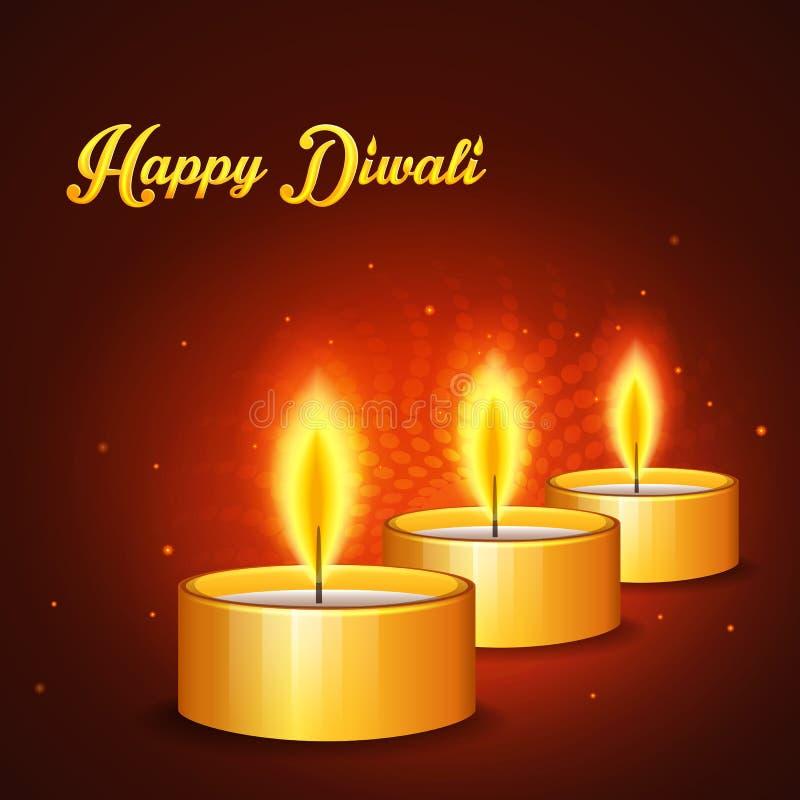 Diwali feliz ilustración del vector