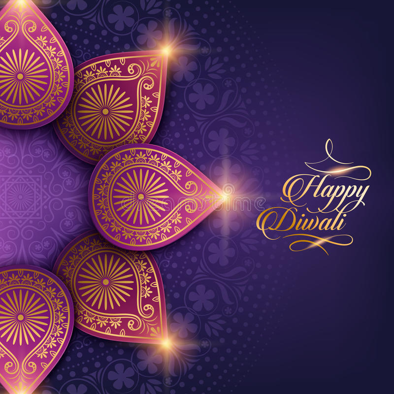 Diwali feliz del texto libre illustration