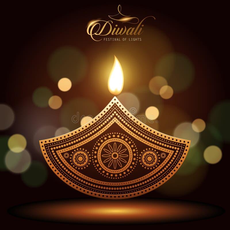 Diwali feliz del texto ilustración del vector