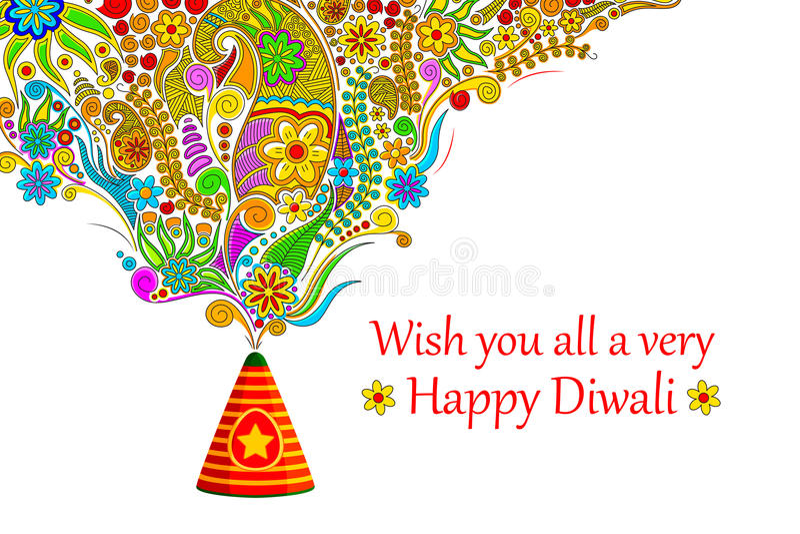 Diwali feliz floral ilustração royalty free