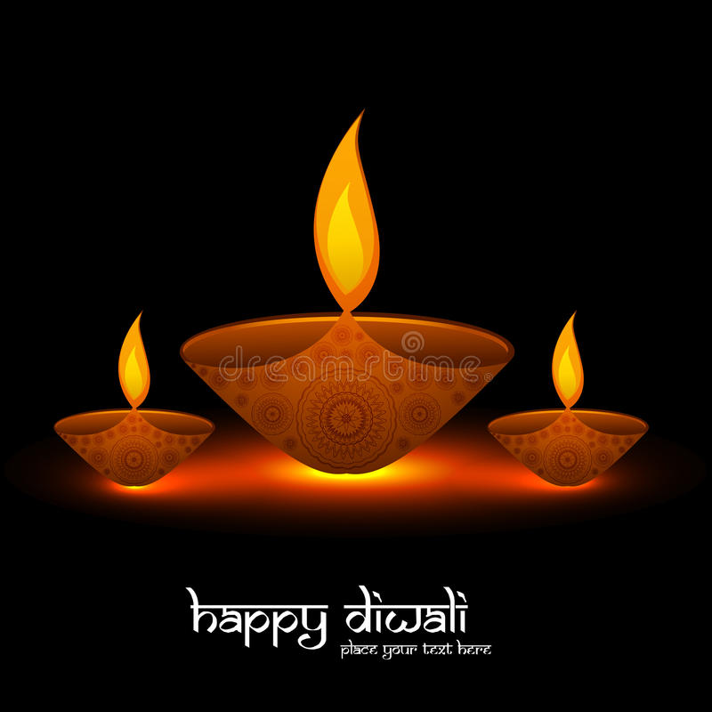 Diwali festival bright colorful religious background royalty free illustration