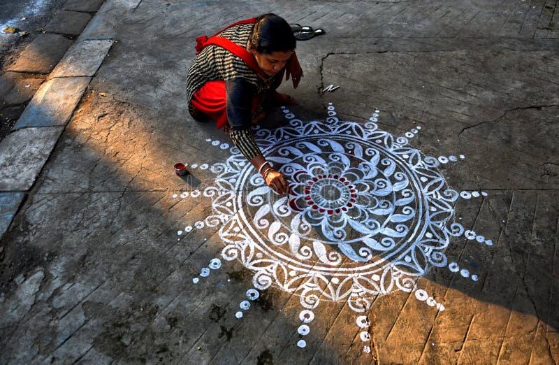 Diwali festival på Indien royaltyfri fotografi