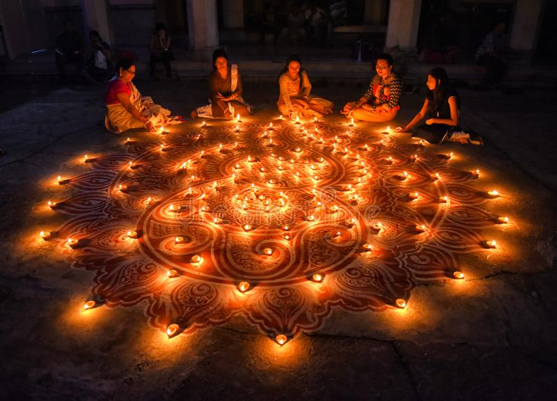 Diwali festival på Indien royaltyfria bilder