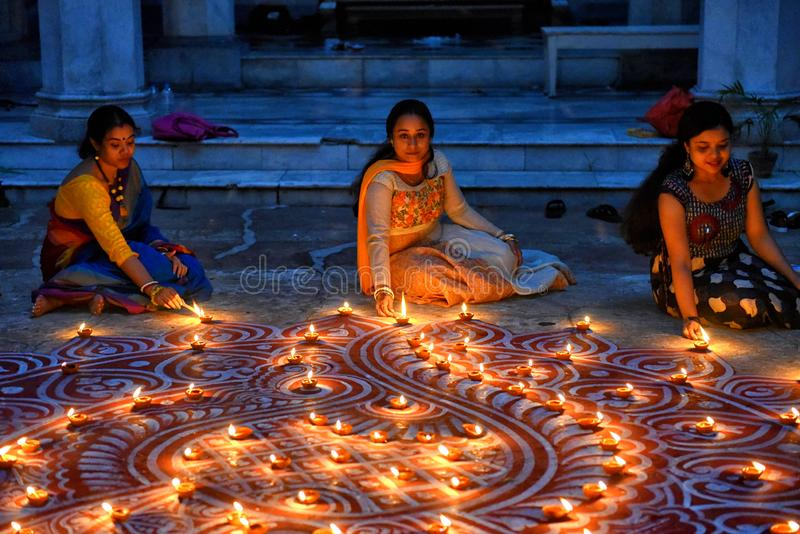 Diwali festival på Indien fotografering för bildbyråer