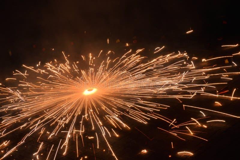Diwali-festival van lichten en voetzoekers royalty-vrije stock fotografie