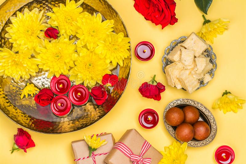 Diwali festivalbakgrund arkivfoton