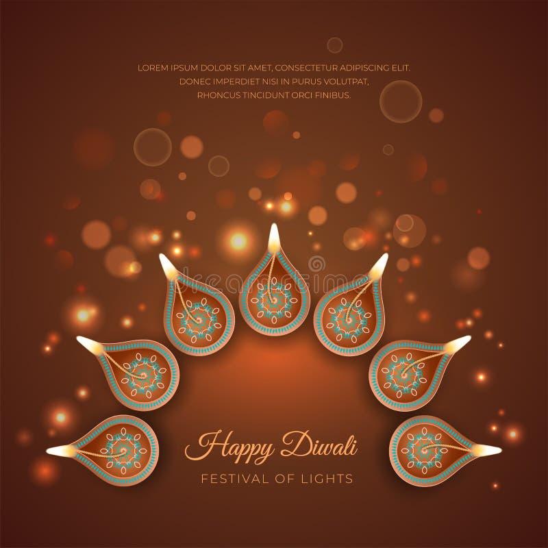 Diwali Festivalhintergrund lizenzfreie abbildung
