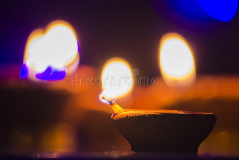 Diwali festivallampa arkivfoto