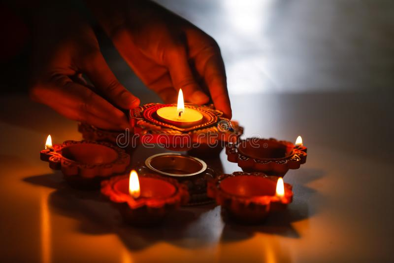Indian Festival Diwali , Diwali lamp royalty free stock photo