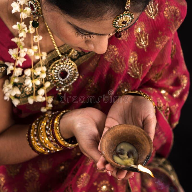 Diwali festivo da celebração das luzes imagens de stock