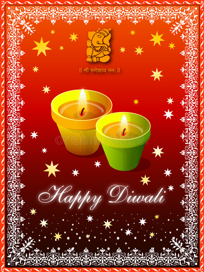 Download Diwali Greeting stock illustration. Image of lotus, background - 3329748