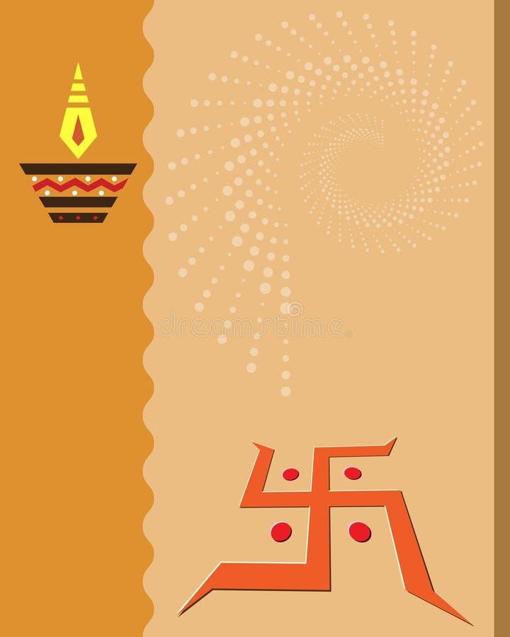 Diwali Greeting. Diwali Festival Greeting Card Design stock illustration