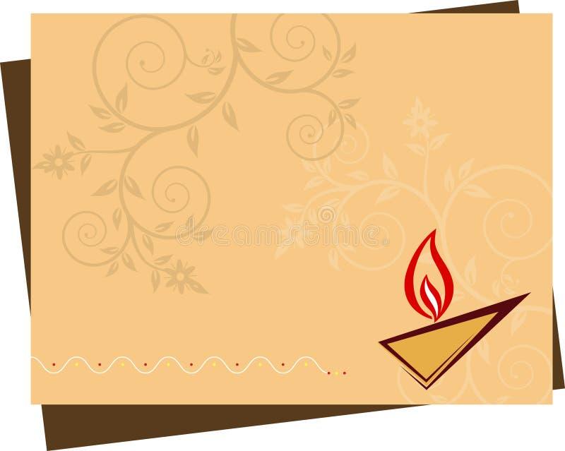 Diwali hälsning stock illustrationer