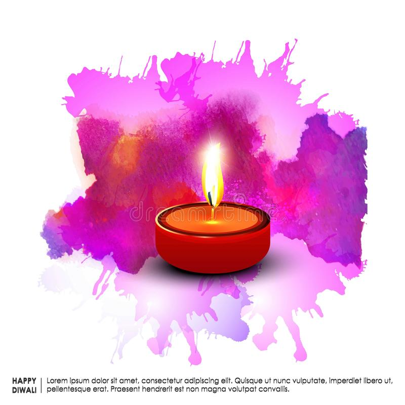 Diwali heureux illustration stock