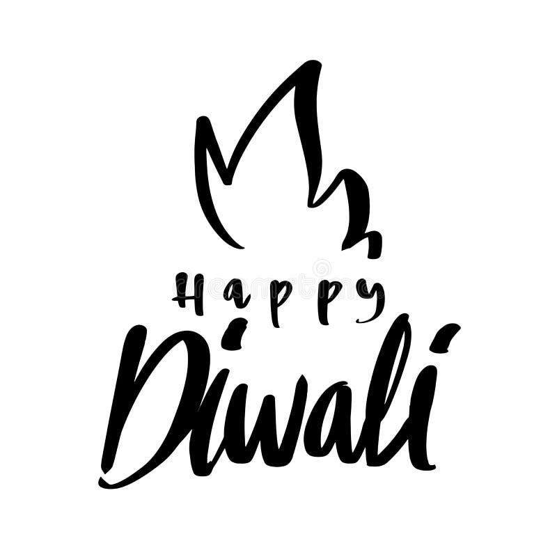 Diwali heureux, célébration de lumière de Deepavali et de fest heureux du feu illustration stock