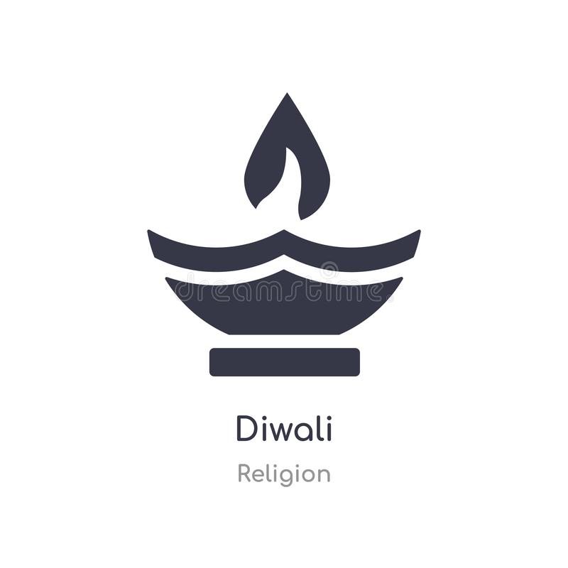 diwali icon. isolated diwali icon vector illustration from religion collection. editable sing symbol can be use for web site and royalty free illustration