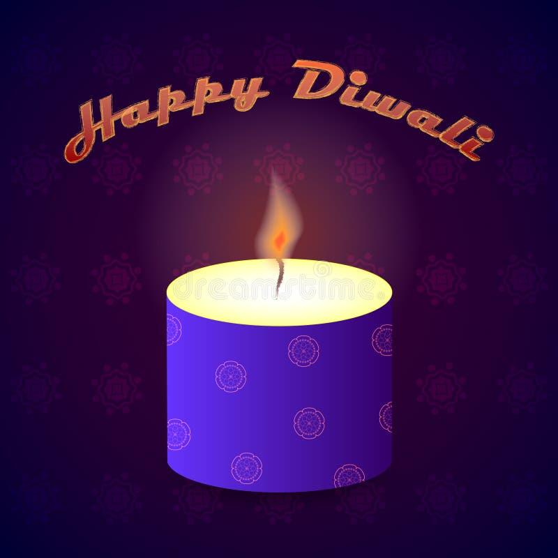Diwali Indisch Festival van Lichtenvector stock illustratie