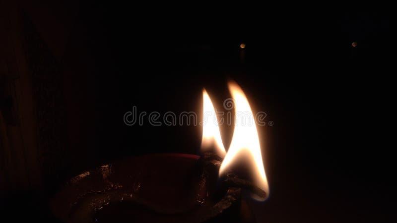 Diwali lamp or diya. Candle, light stock photography