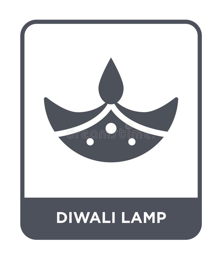 diwali lamp icon in trendy design style. diwali lamp icon isolated on white background. diwali lamp vector icon simple and modern vector illustration