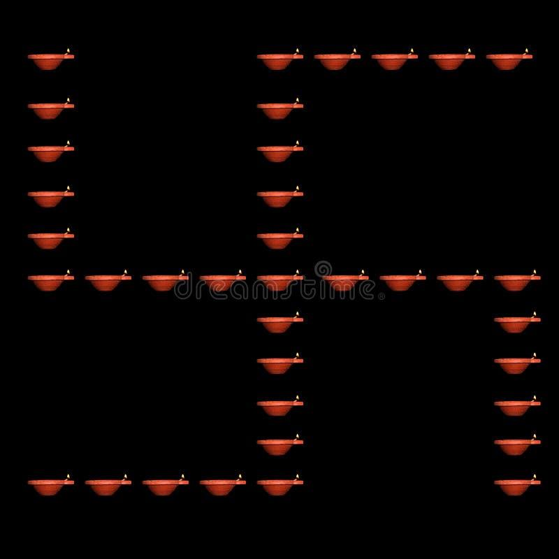 Diwali Lamp Swastika photographie stock