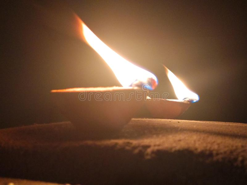 Diwali Lampe lizenzfreie stockfotos