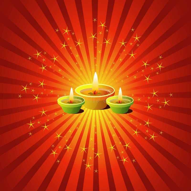 Download Diwali Lamps stock illustration. Image of mandala, flame - 10640817