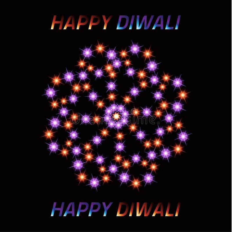 Diwali le festival des lumières indien Carte de voeux illustration libre de droits