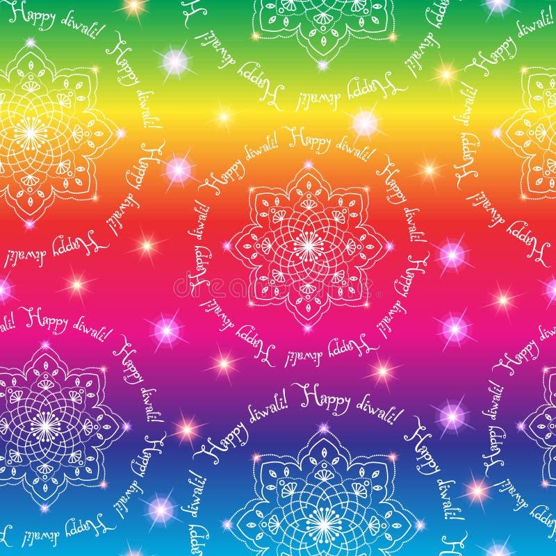 Diwali le festival des lumières indien Configuration sans joint de vecteur illustration libre de droits