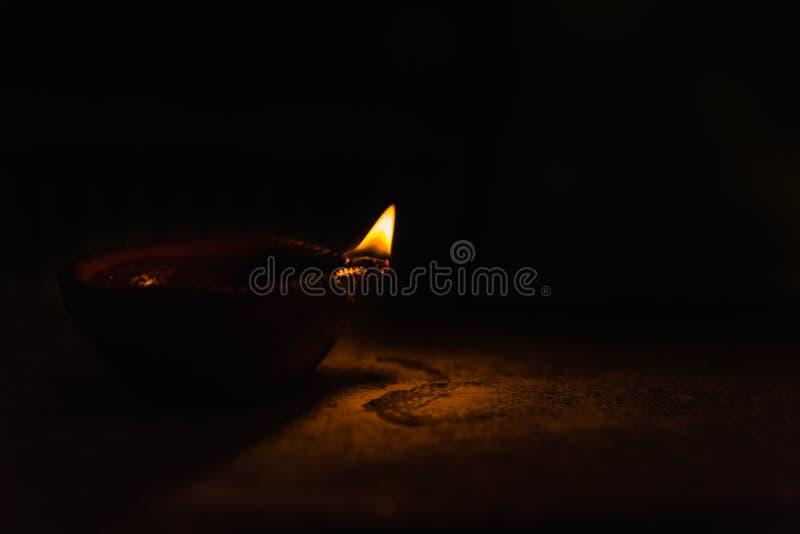 Diwali Light in dark. Diwali light using traditional diwa made of earth soil royalty free stock images