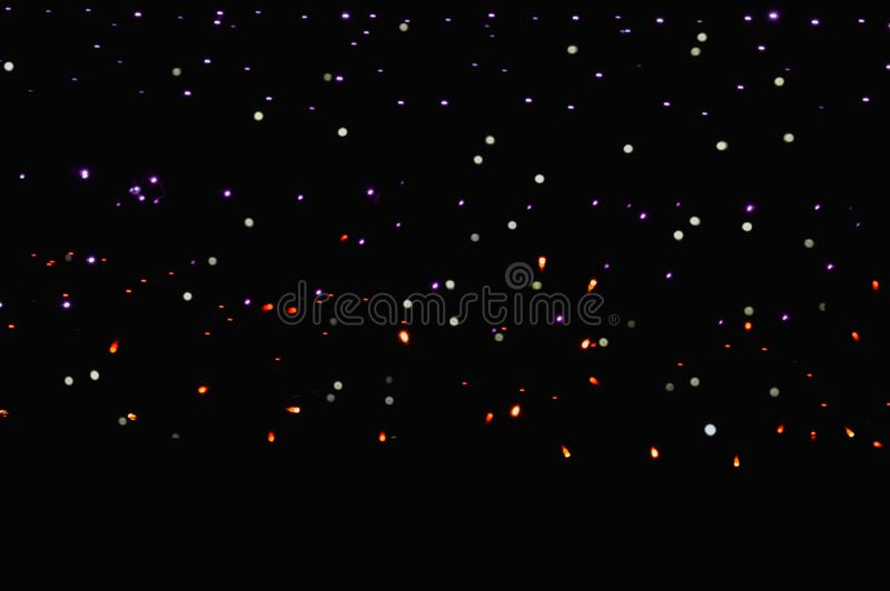 Diwali light,Red and blue vintage lights background,sky type black background,night star background,lighting  background. Color, holiday, cosmic, bling royalty free stock photo