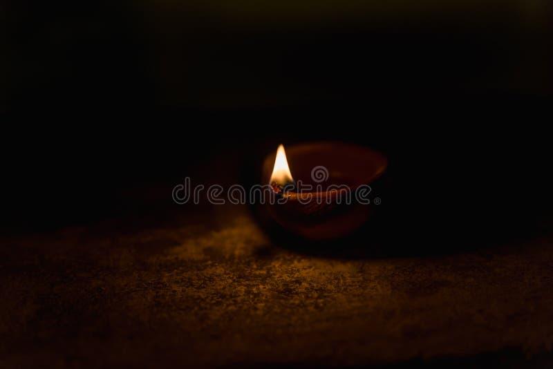 Diwali Light in dark. Diwali light using traditional diwa made of earth soil stock image