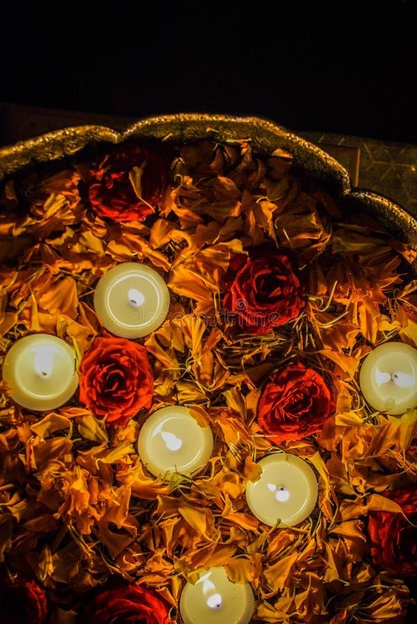 Diwali Lights Colours Rangoli royalty free stock image