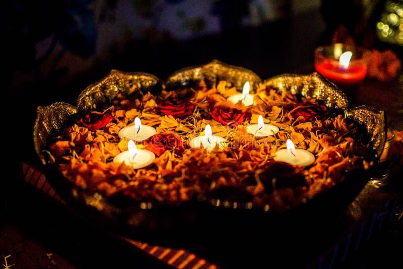 Diwali Lights Colours Rangoli royalty free stock photo