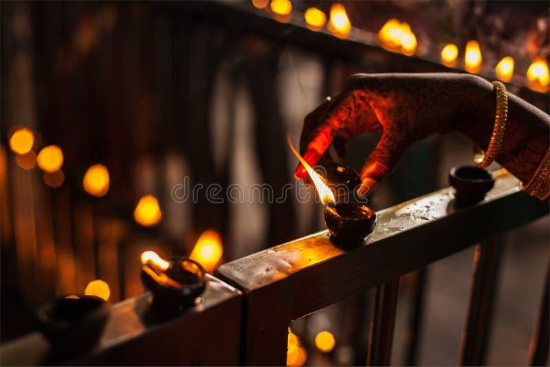 Diwali ljus arkivbilder
