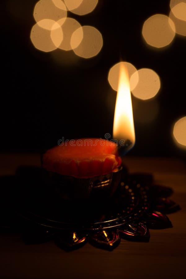Diwali ljus och diyas royaltyfri bild