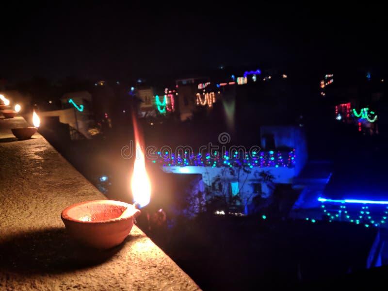 Diwali, Nacht, wunderbare Nachtszene, lieben es stockfoto