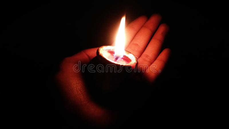 Diwali o diyas o lampada felici di deepawali per la celebrazione in India fotografie stock libere da diritti