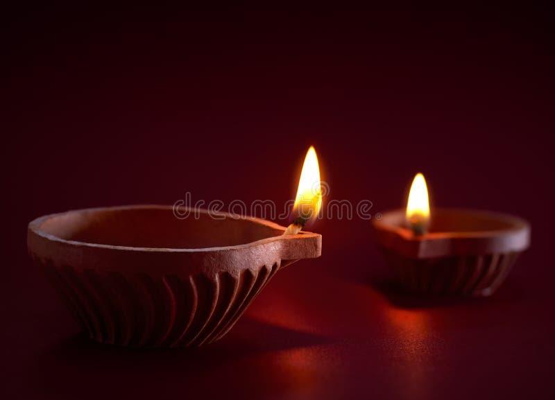 Diwali olje- lampa royaltyfria bilder