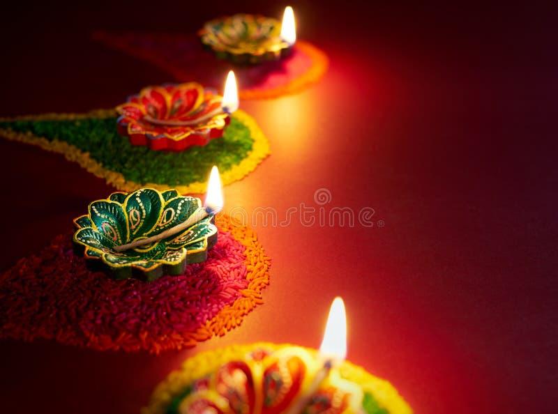Diwali olje- lampa royaltyfri bild