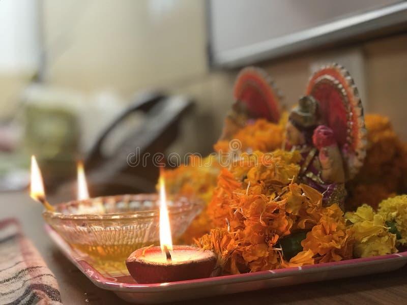 Diwali Pooja lizenzfreies stockbild