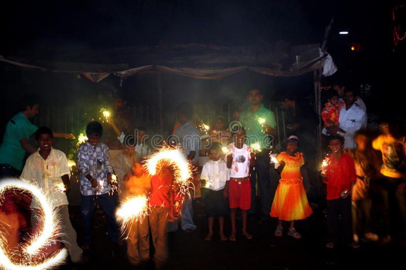 Diwali in Poverty royalty free stock photo