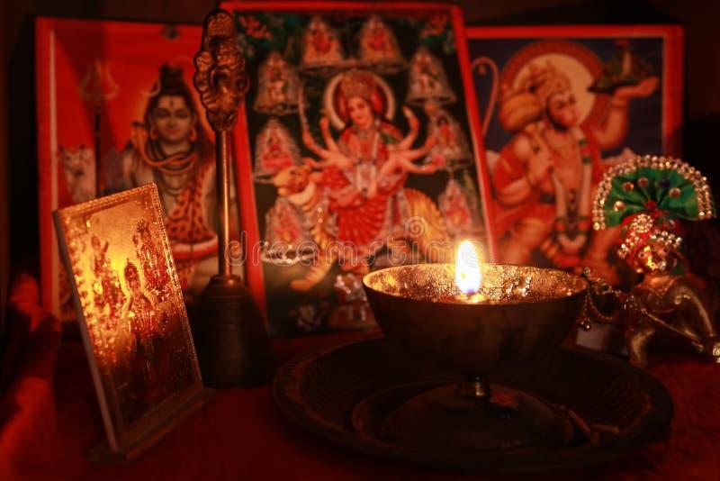 Diwali Puja royaltyfri bild